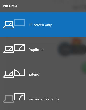 change display to pc screen only