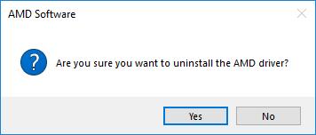 confirm uninstall amd software