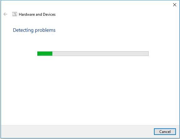 detect and fix problem