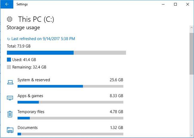 c disk usage