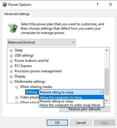 change advanced settings