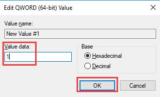 change value data from 0 to 1