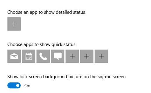 lock screen more settings