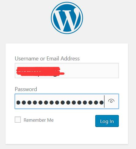 login in username and password
