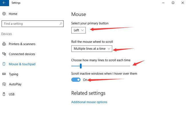 mouse basic settings