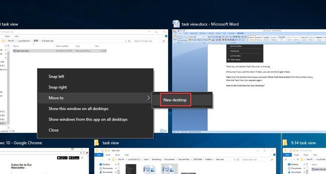 move to new desktop