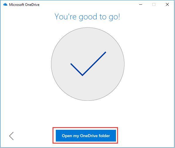 open my onedrive folder