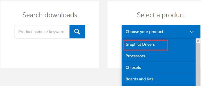 select graphic drivers