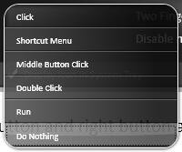 touchpad button actions