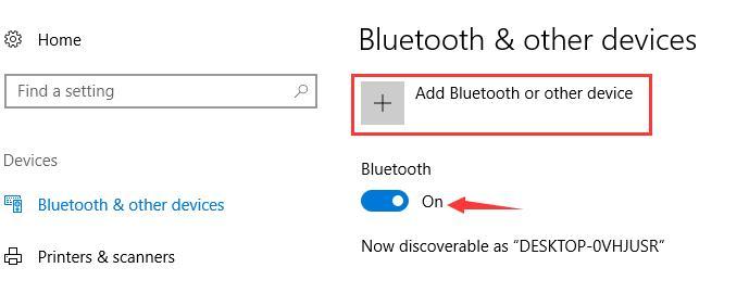 add bluetooth devices
