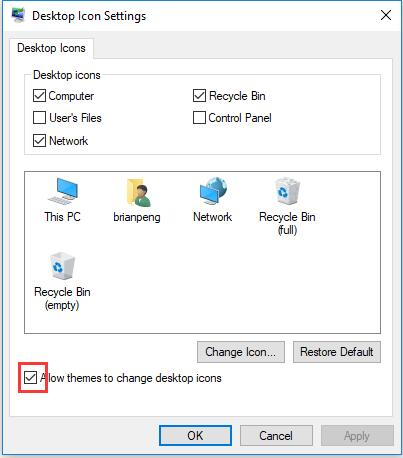 allow themes to change desktop icons