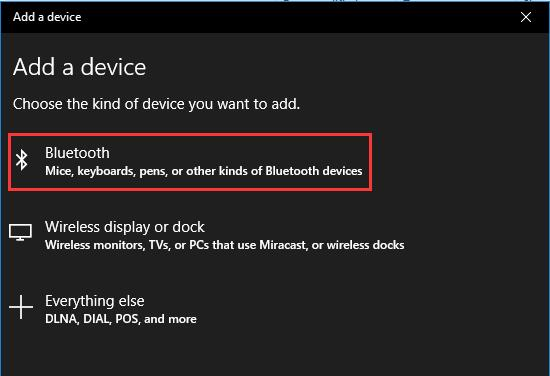 choose bluetooth devices