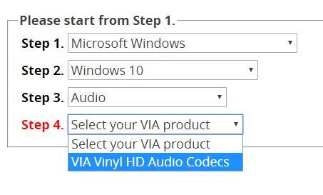 choose via operating system etc