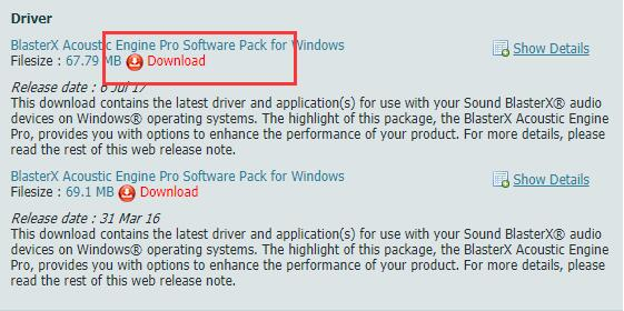 download creative sound blaster driver