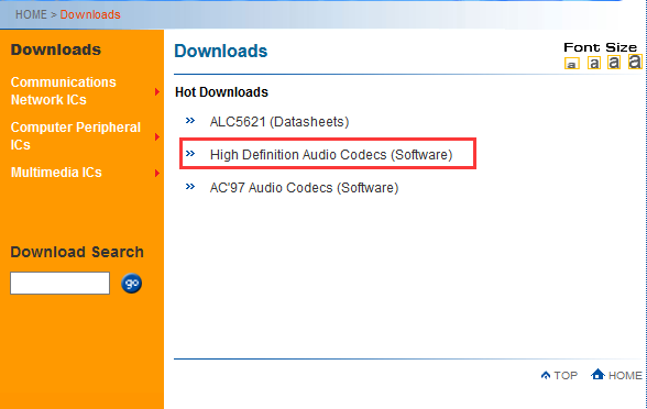 high definition audio codecs software