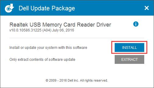 install the driver