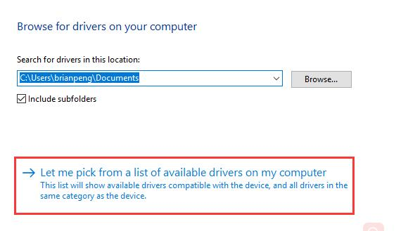 let me pick a driver