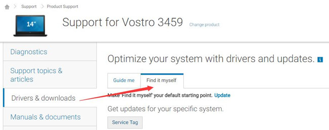 manually find dell vostro 3459 touchpad driver