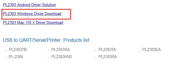 prolific pl2303 windows driver download