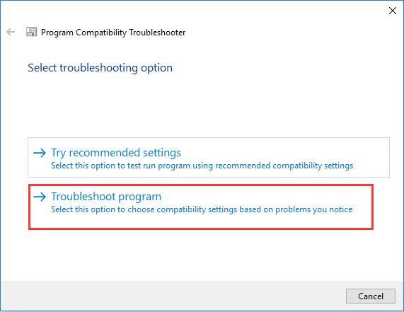 troubleshoot program