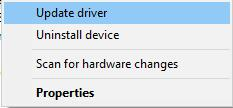 update driver in device manager