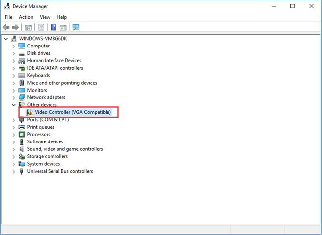Fix Video Controller (VGA) Driver issues for Windows 10