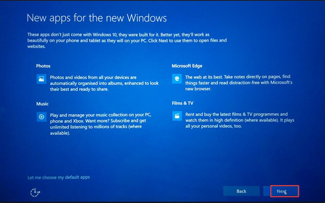 windows 10 new applications setup
