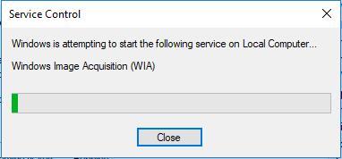 windows attempt to start wia service