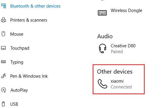 xiaomi shows on laptop