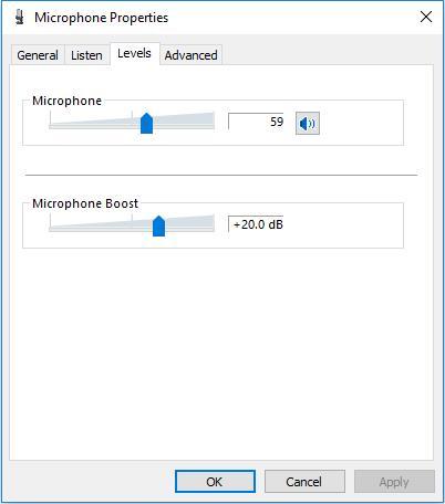 adjust microphone boost