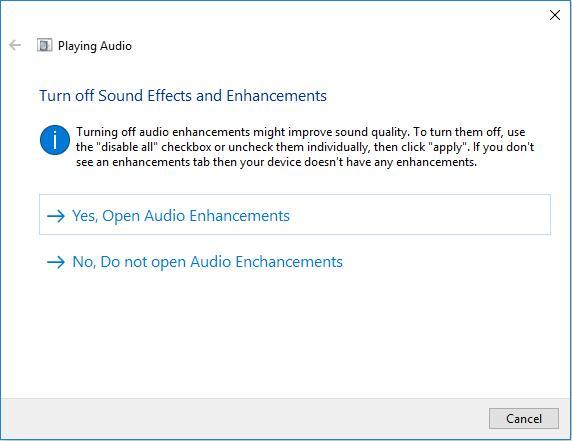 open audio enhancements