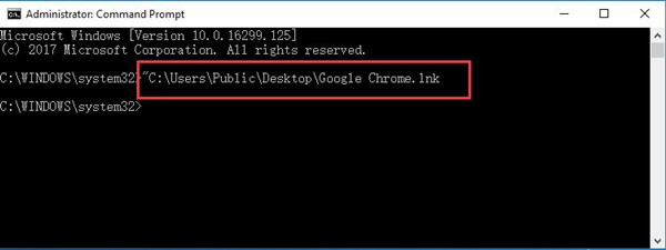 copy the path in command prompt