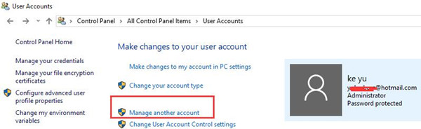 manage another account