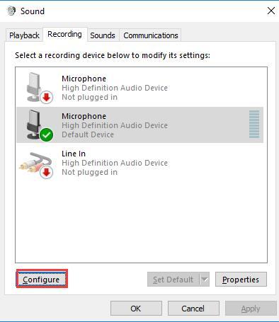 microphone configure