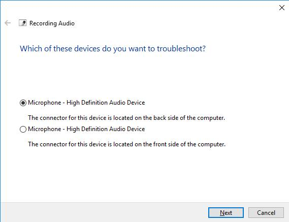 select recording device