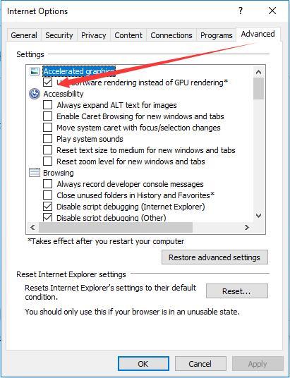 select use software rendering instead of gpu rendering