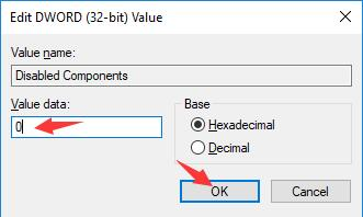 change the value data for disabled componets