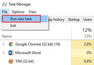 file run a new task