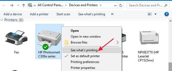 see what is printing