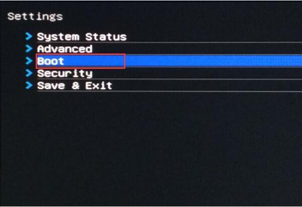 boot option in bios settings