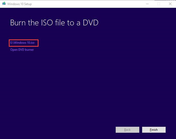 choose windows 10 iso files