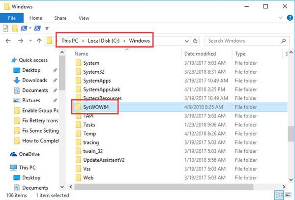 syswow64 in windows folder