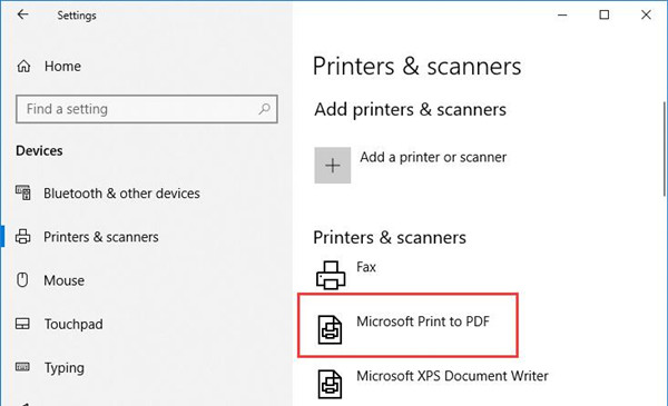 microsoft print to pdf missing windows 10