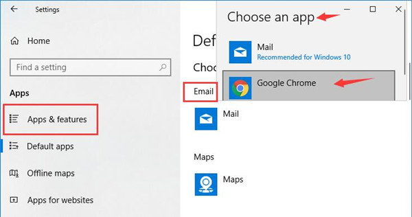 choose an default app