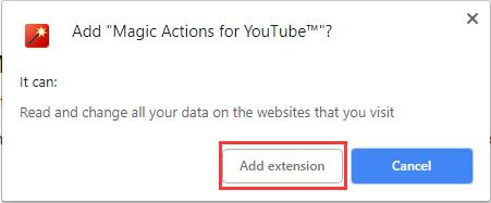 add extensions magic actions