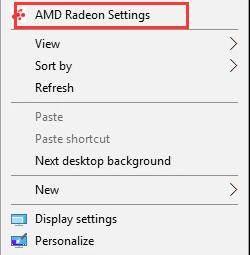amd radeon setting from desktop