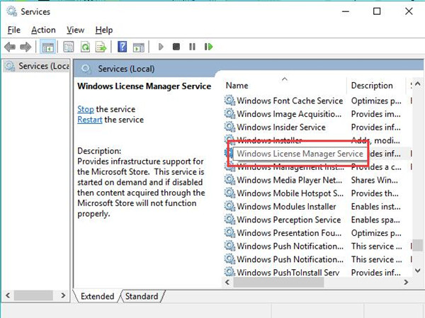 windows license manager service