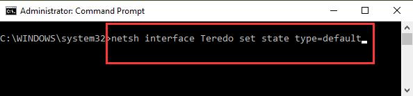 enable teredo in command prompt