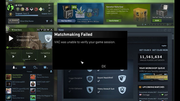 Solved: VAC Was Unable to Verify the Game Session CSGO (2019
