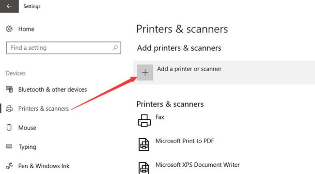 add a printer on windows 10